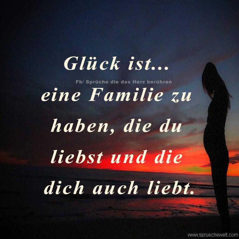 Glueck ist eine Familie zu haben